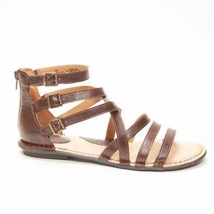 boc Brown Leather Gladiator Sandals